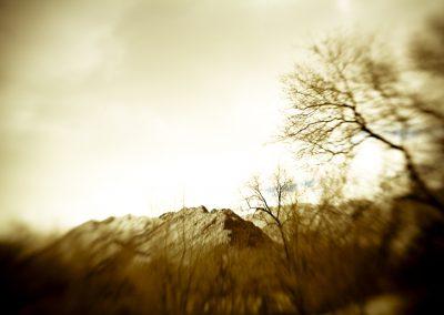 Lensbaby Mountain - Sepia Winter | Blurbomat.com