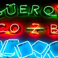 Guars - neon sign - Austin, Texas | Blurbomat.com
