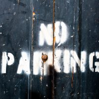 No Parking - Painted stencil - New Orleans | Blurbomat.com