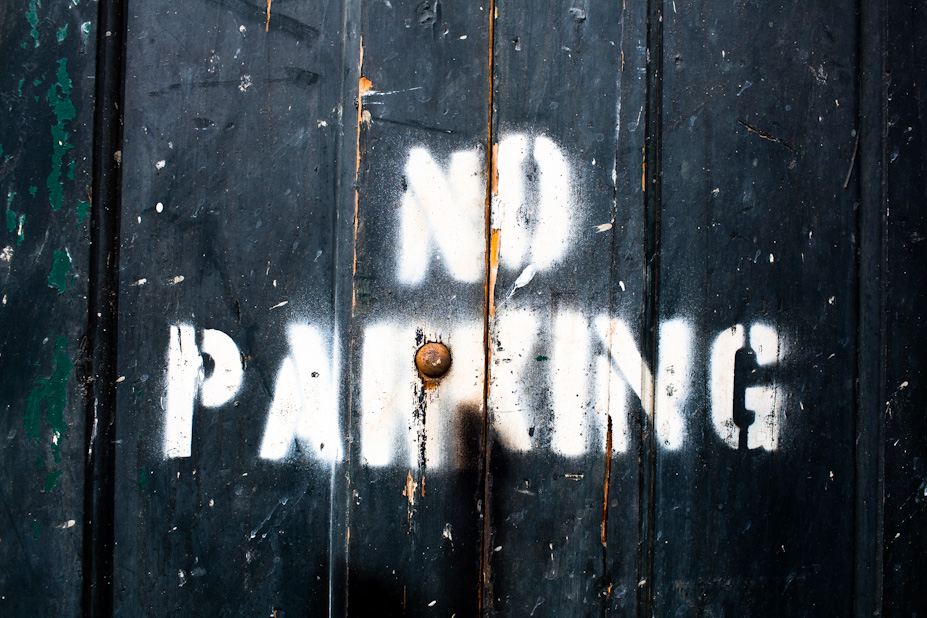 No Parking – Painted stencil – New Orleans
