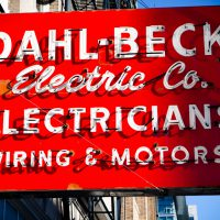 Dahl - Beck - San Francisco neon sign in Cole Valley | Blurbomat.com