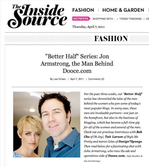 """Better Half"" Series: Jon Armstrong, the Man Behind Dooce.com"
