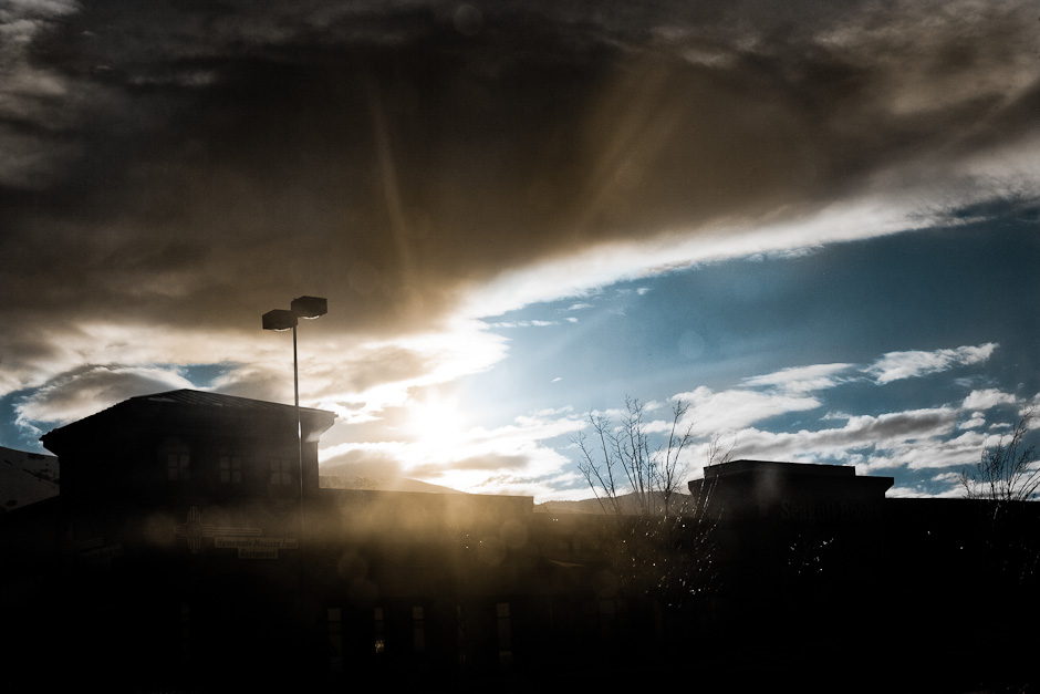 Sun Over Strip Mall