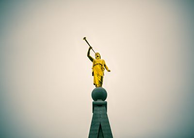 Clarion - Moroni atop the Salt Lake LDS Temple | Blurbomat.com