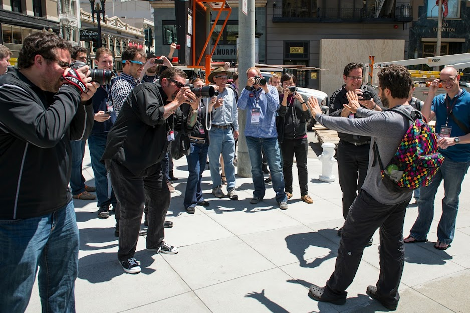 Sergey Brin: The Best Footwear at Google+ Photographer's Conference