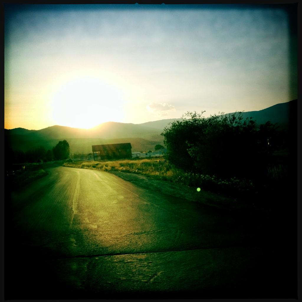 Pastoral Sun Setting