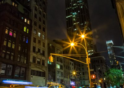 Busy Night in Manhattan Looking up at the Empire State Building | Blurbomat.com