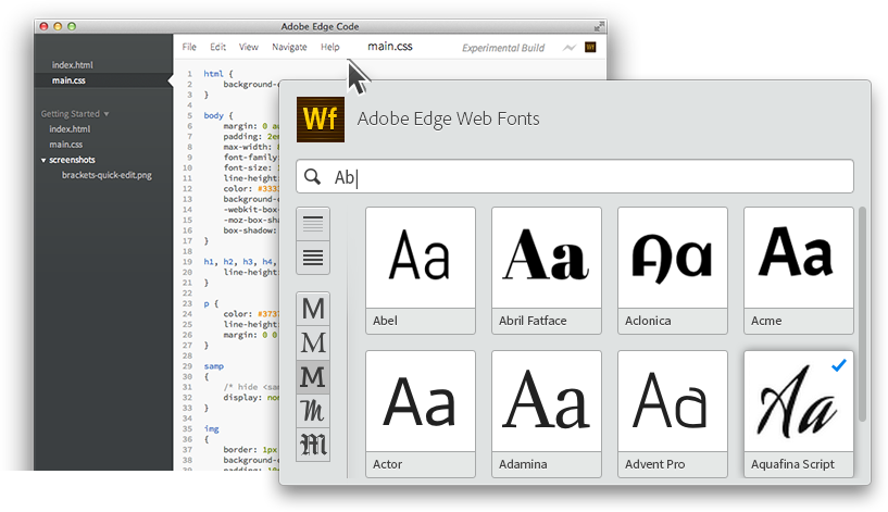 Free Fonts From Adobe Edge