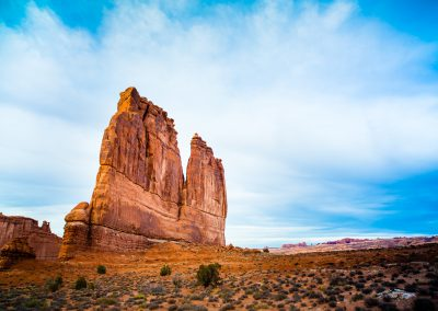 "The Organ - Sandstone rock formation in Arches National Park called ""The Organ"". 