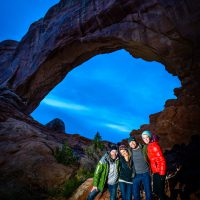 In front of an arch at dusk by Scott Jarvie | Blurbomat.com