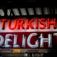 Turkish Delight - neon sign Near Pike Place Market in Seattle, Washington. | Blurbomat.com | Blurbomat.com