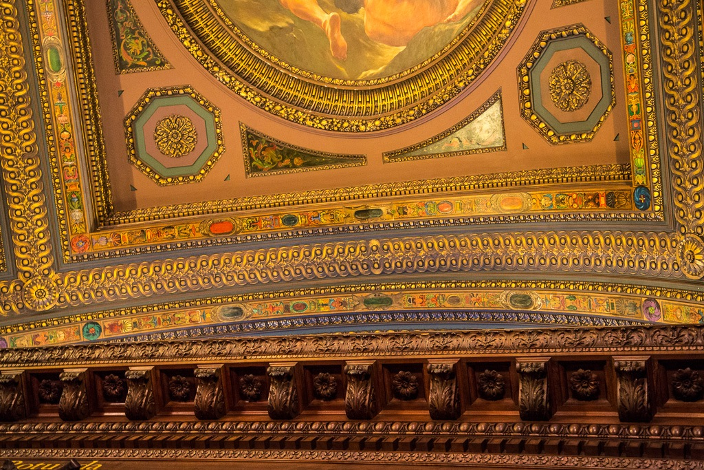 New York City Public Library – McGraw Rotunda Ceiling – Not Ornate or Anything