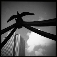 Blurbomat - Jon Armstrong - 2013, architecture, black & white, BlacKeys Super Grain Film, blurbomat, downtown, Foxy Lens, Hipstamatic, iphone, iphoneography, Jon Armstrong blog, Jon Armstrong photography, LDS Church Headquarters, photography, Salt Lake City, silhouette, winter