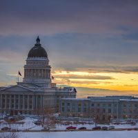 Utah Capitol Sunset | Blurbomat.com