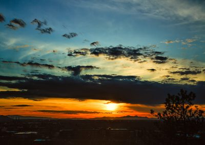End of the Day - Sunset over the Great Salt Lake as seen from Salt Lake City. | Blurbomat.com
