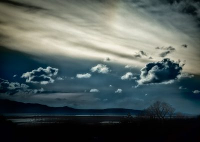 Almost Spring - Cloudy sky looking out toward the Great Salt Lake. | Blurbomat.com