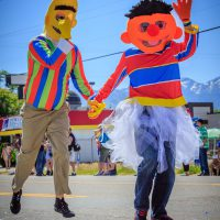Confirmed Bachelors - Very happy characters in the Salt Lake City LGBT, Utah 2013 Pride March | Blurbomat.com