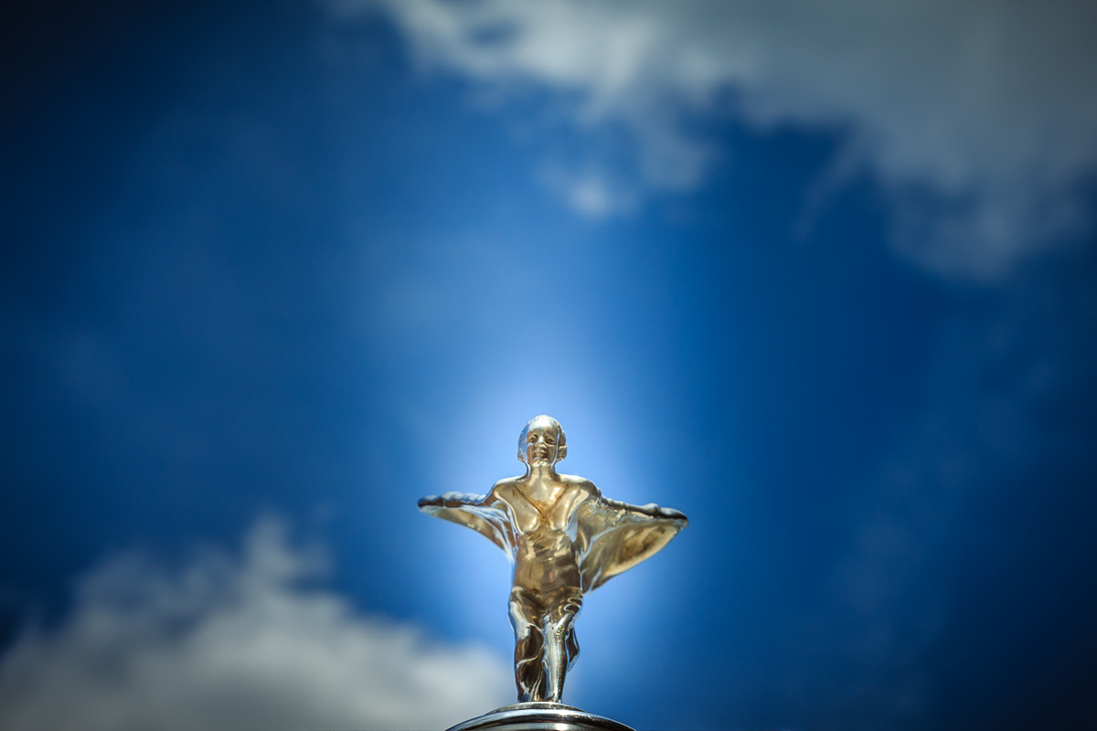 Silver Lady -Bonnet ornament on a vintage Rolls Royce. | Blurbomat.com
