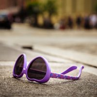 Hearts and Bones - Abandoned pair of children's sunglasses. | Blurbomat.com