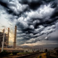 Jon Armstrong - Blurbomat - Power Station in Salt Lake City, Utah - blurbomat, Canon 5D Mark III, Canon EF 24-105mm f/4.0 L IS USM, clouds, Jon Armstrong, Jon Armstrong blog, landscape, machinery, Salt Lake City, sky