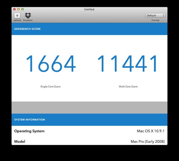 Blurbomat.com - 2008 Mac Pro Geekbench 3