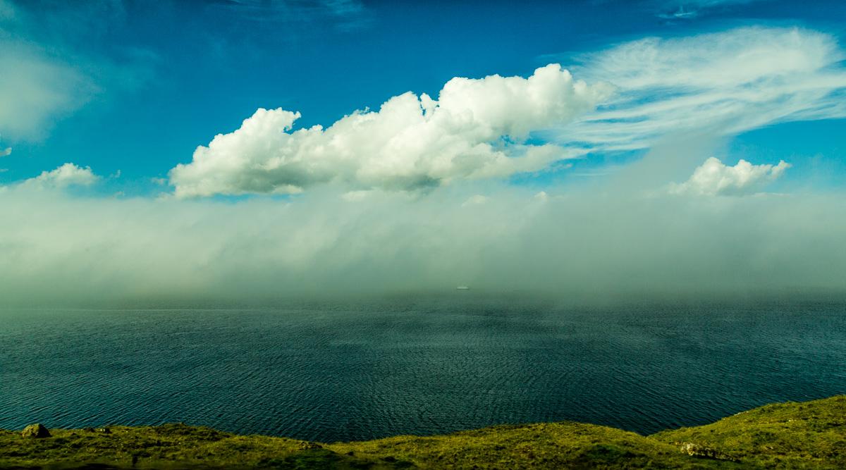 Ship in the Fog, Faroe Islands - Blurbomat.com