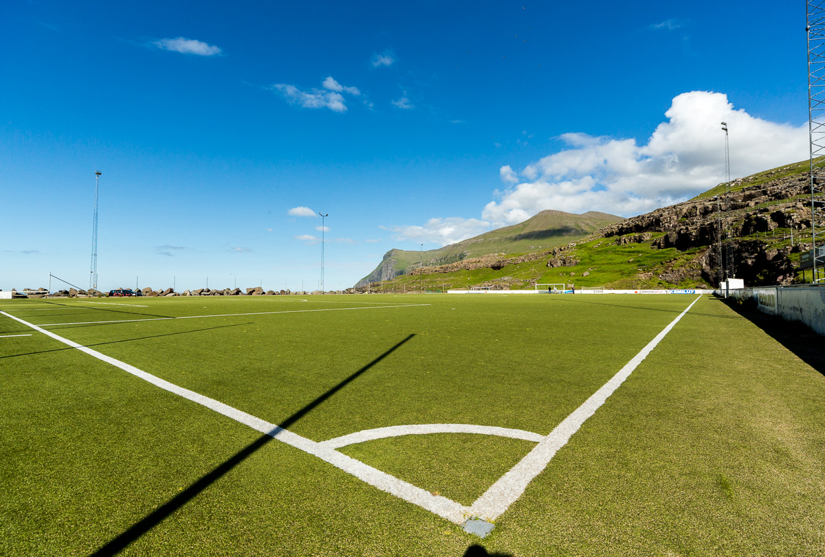 At Eiði football pitch, Faroe Islands. - Blurbomat.com