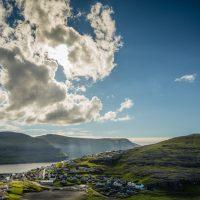 Looking down on the village of Eiði, Faroe Islands. | Blurbomat.com