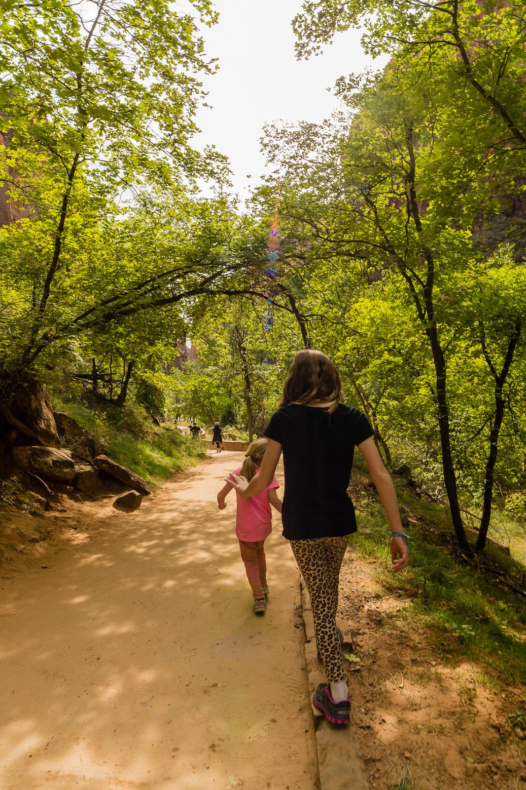 Leta and Marlo hiking
