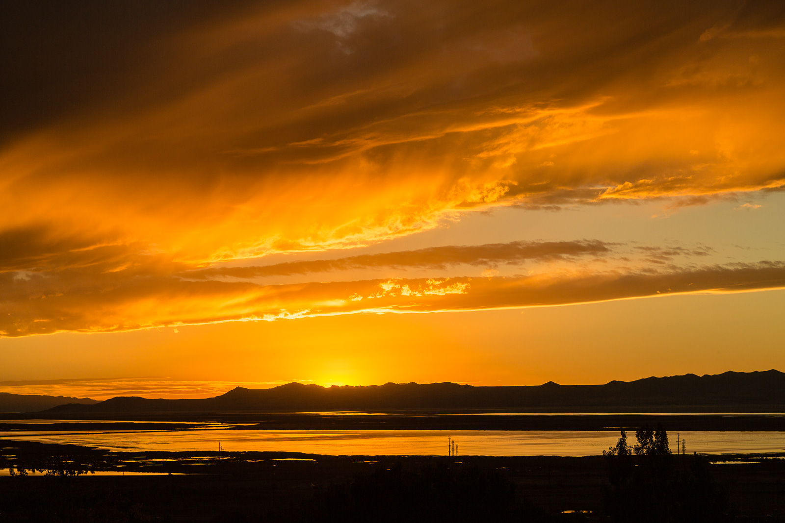 Another Autumn Great Salt Lake Sunset