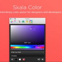 Skala 2, an alternative color picker for Mac OS X