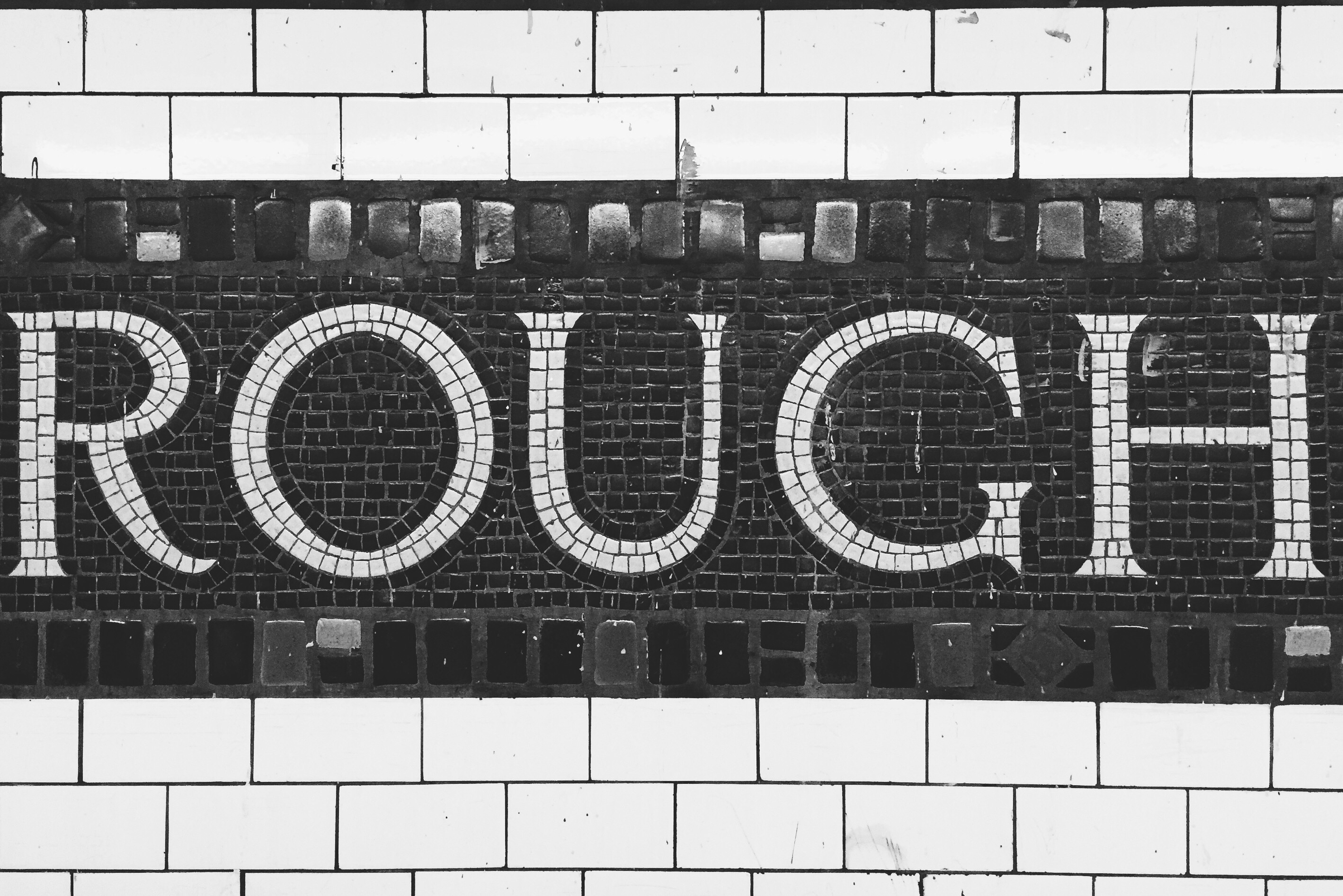 Rough in the tiles