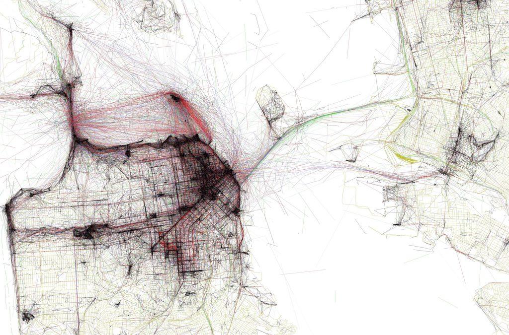 Link: Eric Fischer's marvelous maps | Flickr Blog