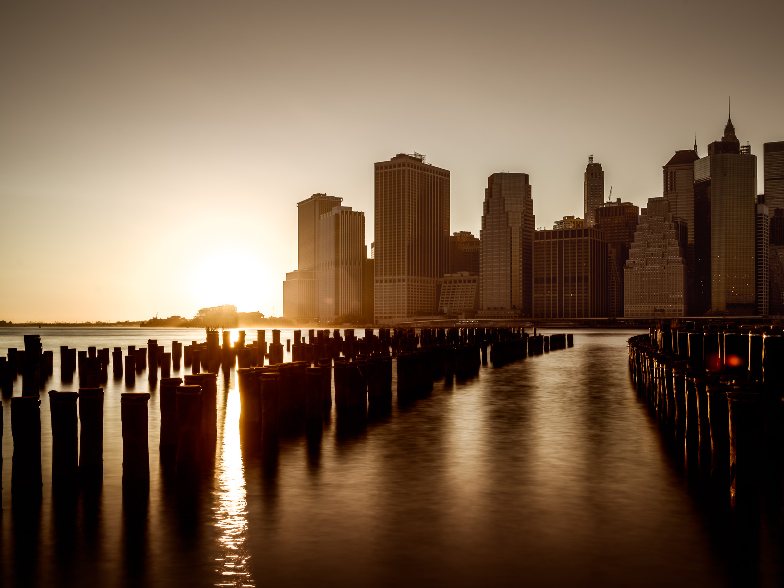 Sunset in Lowest Manhattan