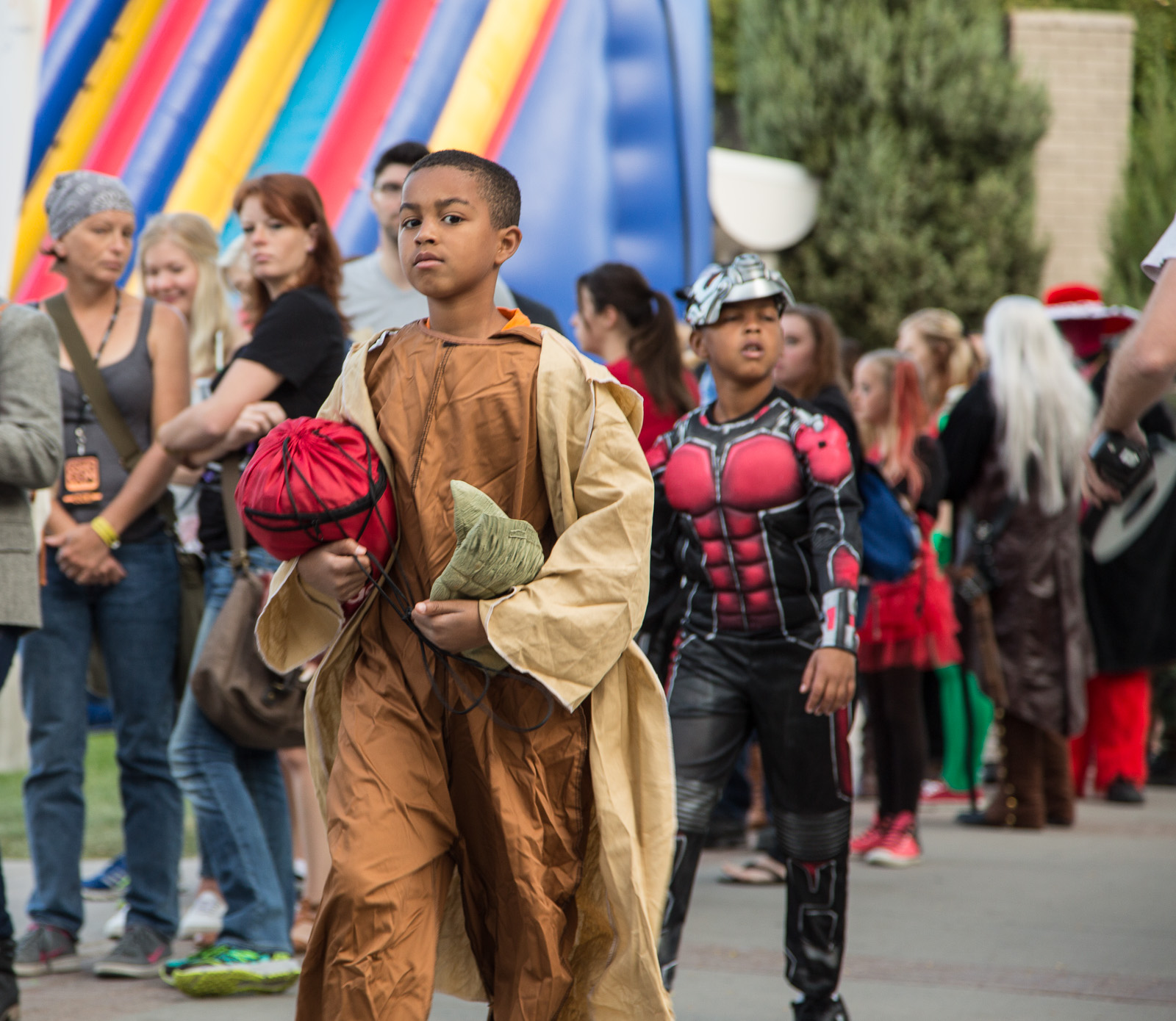 Boy dressed as Yoda, ComicCon, Salt Lake City, Utah. September, 2015.