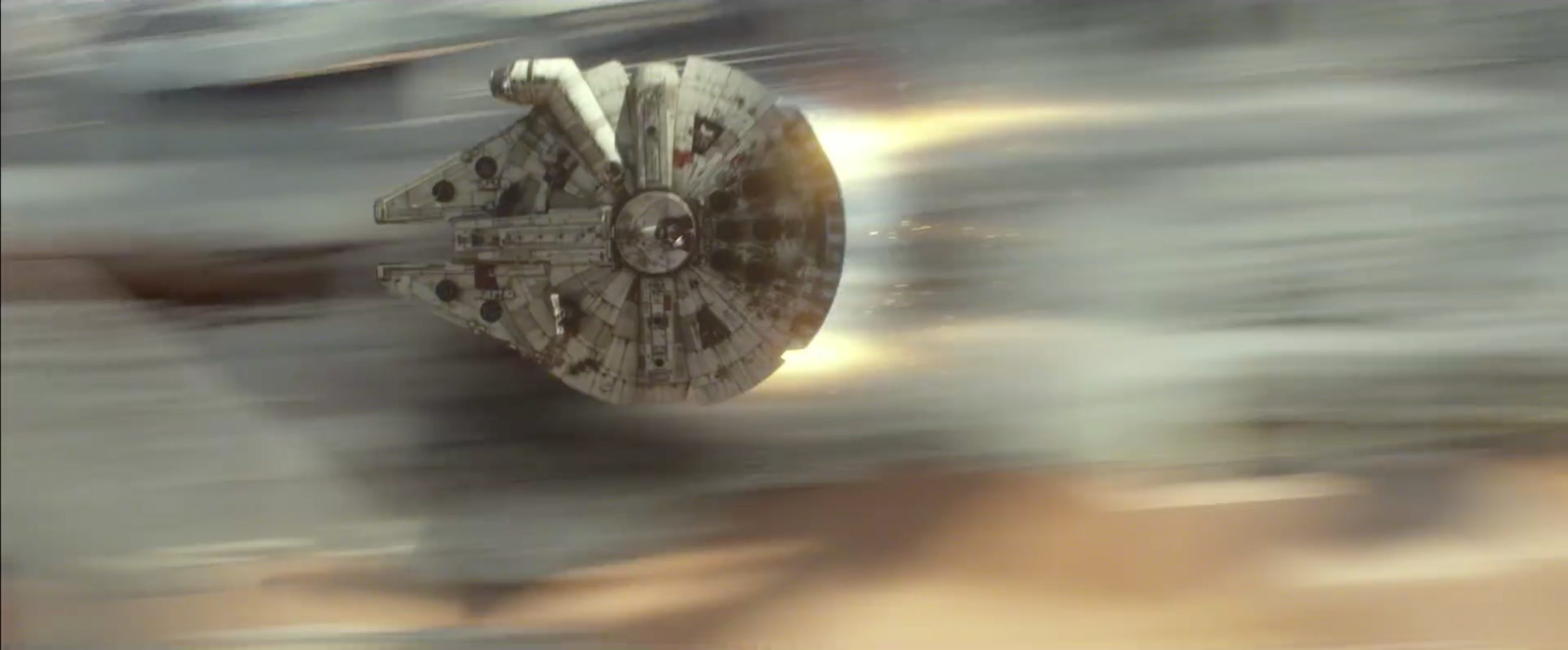 Milllenium Falcon turning up the thrusters while being chased by TIE fighters | Blurbomat.com