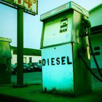 Diesel pump at Craftsbury Garage.