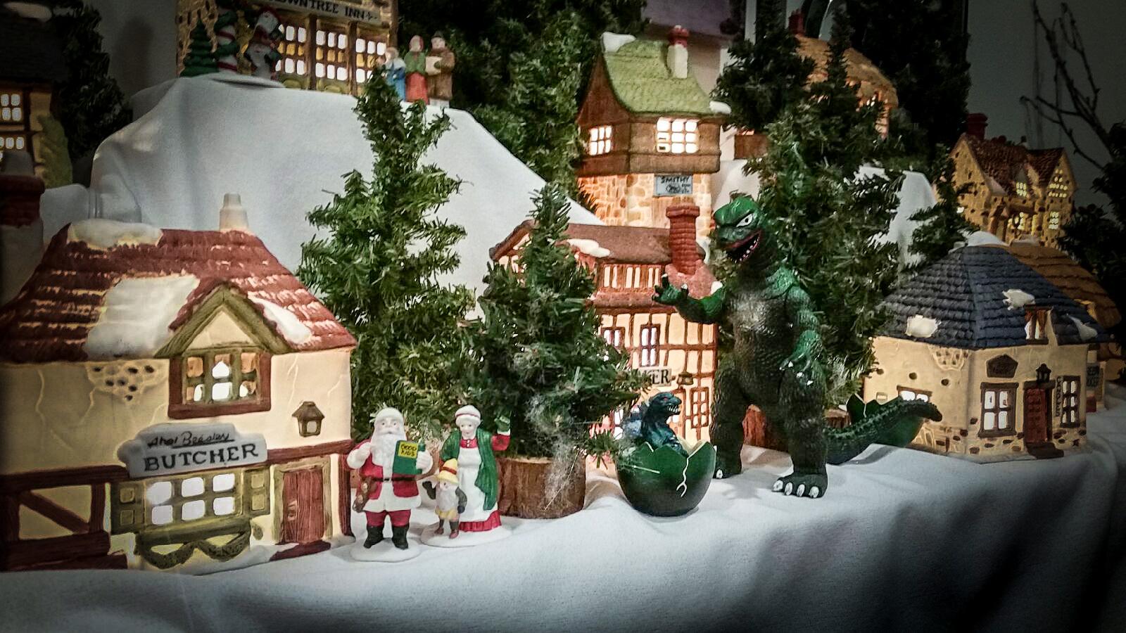 Christmas Godzilla 1