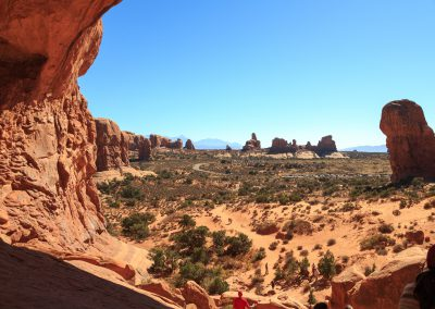 Looking at Turret Arch from Double Arch, Arches National Park | Blurbomat.com