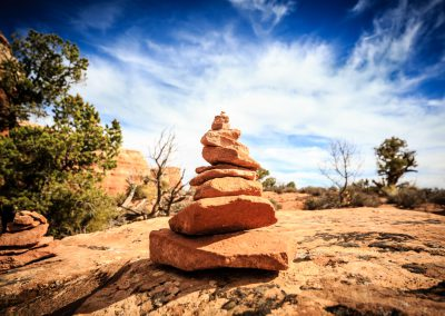 Cairn On the Delicate Arch Trail, Arches National Park | blurbomat.com