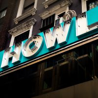 Howl Neon Sign in Midtown Manhattan